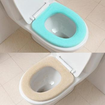 Funda para asiento de Inodoro de baño, pegatina de limpieza para Inodoro, accesorios para Wc, alfombrilla suave, cojín, funda cómoda, Inodoro Z0Y7, 1 ud.
