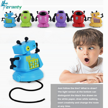 Original Inductive electric robot Car Line Follower Magic Pen Toy Follow Any Line You Draw Xmas Gifts Educational toy Creative