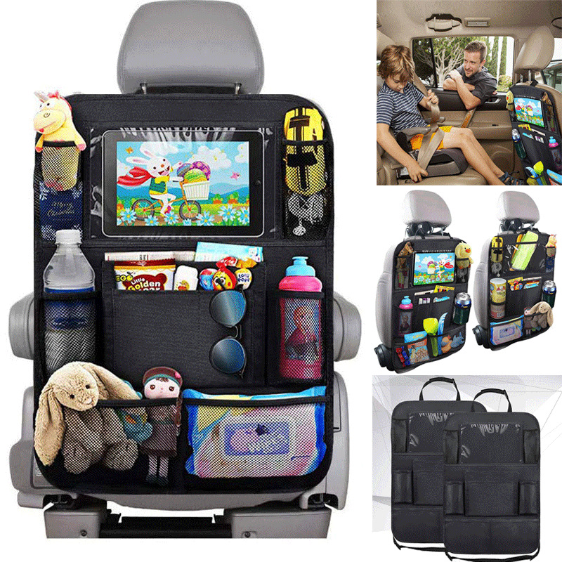2x CAR SEAT ORGANISER Multi Pocket Storage Tidy Universal Travel Caddy Holder