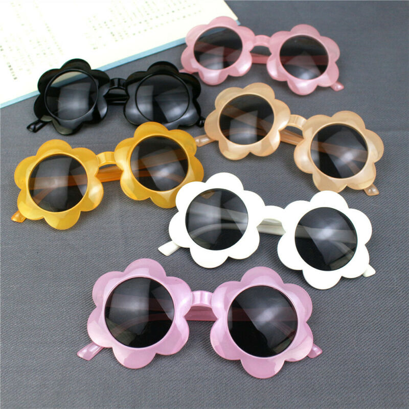 Kids Boys Girls Baby Sunflower Sunglasses Toddler Children Mirrored Shade Props Gifts Accessories