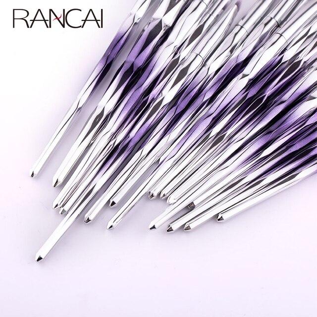 RANCAI 20pcs Makeup Brushes Set Foundation Powder Blush Eyeshadow Sponge Wool Fiber Hair Small Fan Brush Cosmetic Brushes Tools 5