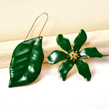 Wholesale ZA New Metal oiled Flowers-Shaped Dangle Drop Long Earrings Hot Fine Jewelry Accessories For Women Christmas Gift