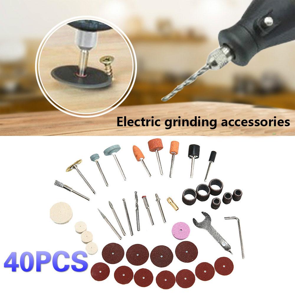 Plastic 40pcs Electric Suit Grinding Tool Set Colour Steel Brush Wool Polishing Wheel Abrasive Paste DIY Sandpaper Bar Circle
