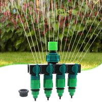Garden Drip Irrigation 4-Way Tap Splitters Garden Hose Fittings Pipe Connector 4 Mm Or 8 Mm Inner Diameter Hose Durable