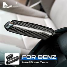 AIRSPEED uchwyt hamulca ręcznego z włókna węglowego pokrywa dla Mercedes Benz A B klasa W169 W245 A170 A180 A200 akcesoria wykończenie wnętrza tanie tanio CN (pochodzenie) 0inch Carbon Fiber Uchwyty hamulca ręcznego 0 15kg For Mercedes Benz W169 W245 for Mercedes Benz A Class W169