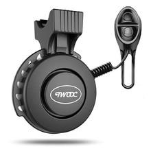 New 1Pcs USB Rechargeable Waterproof Electronic Bicycle Horn Loud Volume Cycling Handlebar Electric Bike Ring Mini Alarm Bells