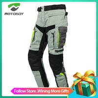 Motoboy Motorcycle Pants Waterproof Breathable Warm All Season Motocross Rider Riding Protection Trousers With 4pcs Kneepads