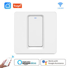 Smart life Tuya App Wifi Wireless Remote Control light Wall Switch EU Push Button wall switch Work with Alexa Google Home