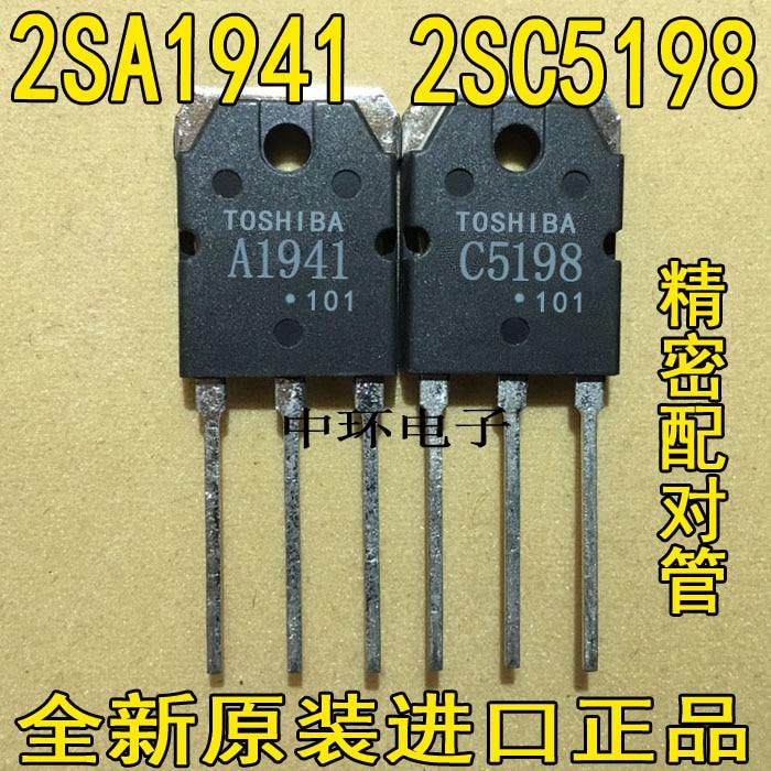 1pair 2SA1941 2SC5198 100/% Genuine NEW TOSHIBA AMP TO-3P