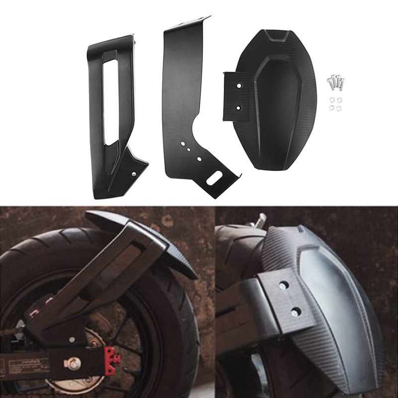 1 Pcs Motorcycle Fairing Rear Wheel Hugger Fender Mudguard For Honda Grom MSX125 SF ABS Plastic & Aluminum Mesh