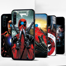 For Xiaomi Redmi Note 8T Case Iron Man Avengers Black TPU For Xiaomi Redmi Note 8 Pro Silicone Cover Redmi 8 Cases Redmi Note 8 cheap adlucky Fitted Case Fashion Marvel Soft Silicone Case Geometric Quotes Messages Matte Plain Animal cartoon Anti-knock