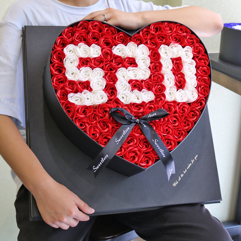 108 шт., цветок розы, мыльница 520, подарок с коробкой на День святого Валентина, креативный подарок, искусственный цветок, украшение на день рож