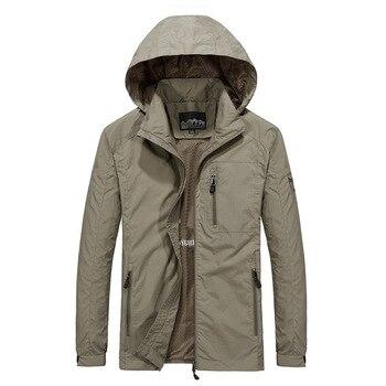 Men's Windbreaker Jackets Waterproof Military Hooded Water Proof Wind Breaker Casual Coat Male Clothing 2021 Autumn Jackets Men 4