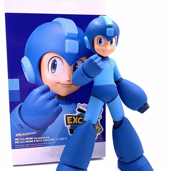 23CM Anime Rockman Figure Classic Edition PVC Action Figure Childhood Memory Rockman Model Toys Gifts for children prettyangel genuine bandai tamashii nations nxedge style mega man x rockman x action figure