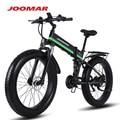 JOOMAR 1000 ваттовый мотовелосипед; Верхнего уровня складной электровелосипед снег горный велосипед пляж 4,0 с толстыми покрышками 48V электричес...