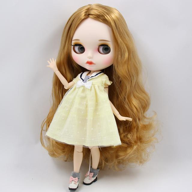 Джорджія - Преміальна лялька Blythe Blowthe з повним вбранням Пухте обличчя
