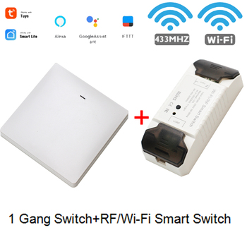 Smart Life APP WiFi RF DIY Switch Wifi Smart Breaker Switch Wireless Controller Light RF 433Mhz Wall DIY Relay Timer Tuya 15