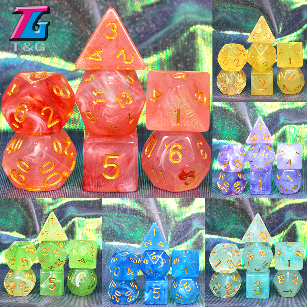New Arrival! Funny Dice 7 For D&d Game D4 D6 D8 D10 D12 D20 Dice Set Gift Toy DND RPG Dice Christmas Gift