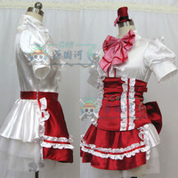 Anime Macross F Ranka L Cosplay Costumes Gemini Dress Red Version Full Set Adult Role Playing Clothing Custom Make Any Size