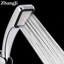 ZhangJi-Cabezal de ducha con 300 agujeros, gran oferta, ahorro de agua, boquilla de Pulverizador de alta presión de lluvia, ABS cromado, accesorios de baño