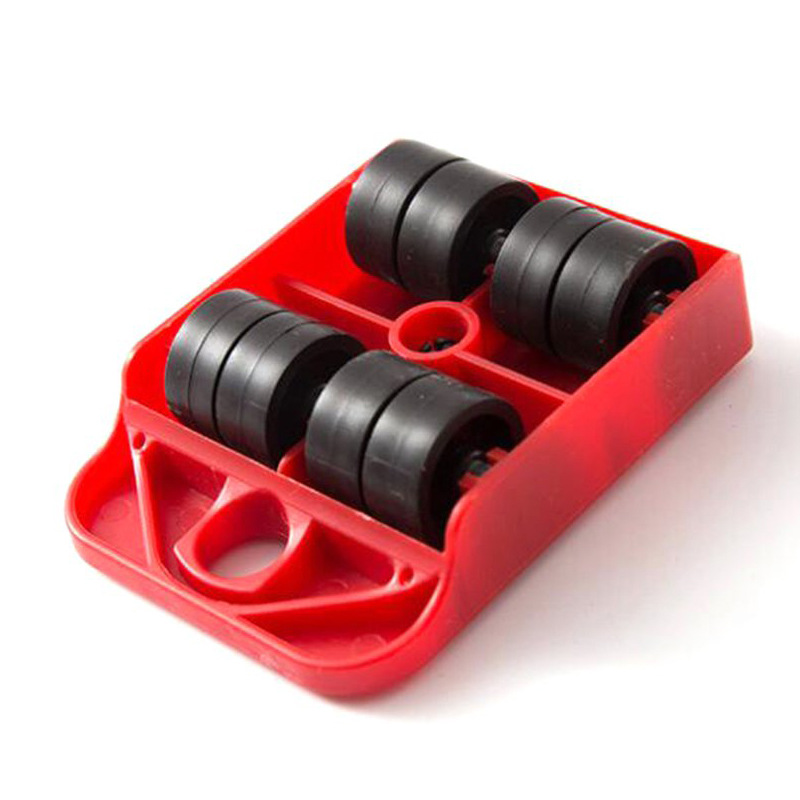 ZK3 5 PCS Furniture Mover Tool Set Furniture Transport Lifter Heavy Stuffs Moving Tool Wheeled Mover Roller Wheel Bar Hand Tools-2