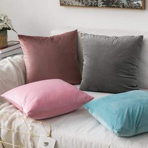 Luxury Blue Velvet Cushion Cov