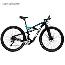 CATAZER Carbon Mountain Bike 27 5er Suspension Frame 20 30 Speeds Profession Disc Brake MTB Bicycle