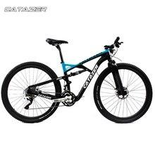 CATAZER Carbon Mountain Bike 27.5er Suspension Frame 20/30 Speeds Profession Disc Brake MTB Bicycle 650B With SHIMAN0 M8000