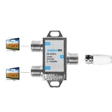 2 דרך HD הדיגיטלי ספליטר מחבר טלוויזיה בלווין מקלט תוכנן עבור SATV/CATV X6HB