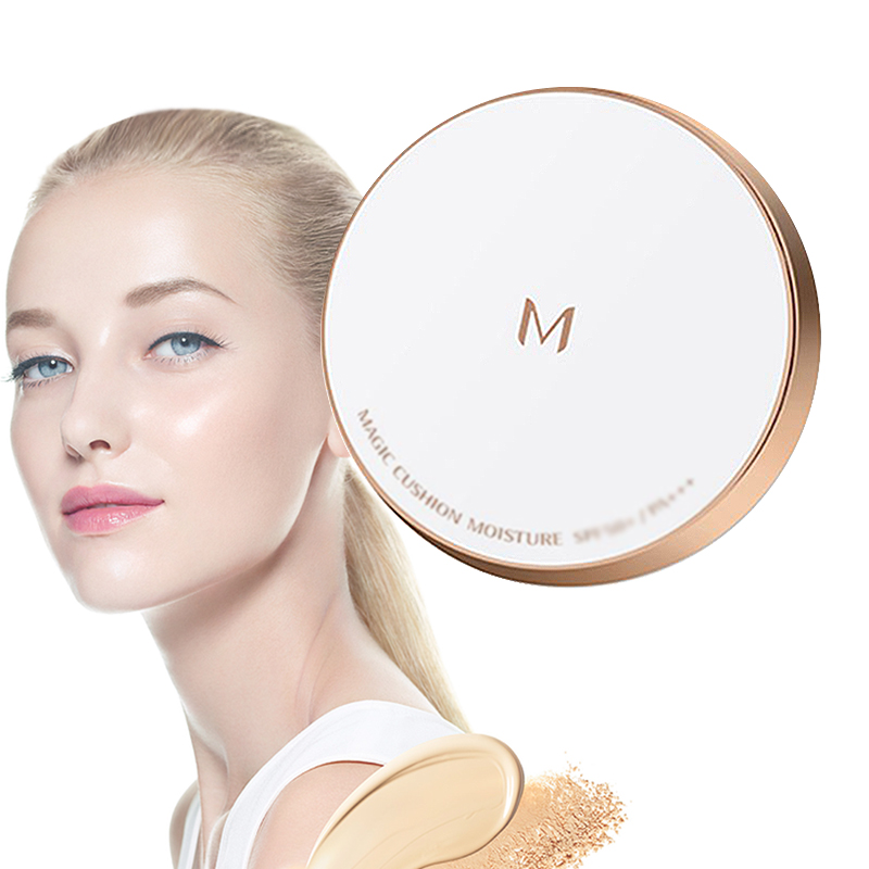 MISSHA M Magic Cushion Moisture 21 Light Beige/23 Natural Beige Whitening flawless air cushion BB cream Foundatio