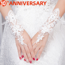 OLLYMURS Wedding Gloves Have Long Lace Wedding Bridal Gloves Factory Direct Wedding Gloves White  Wedding Accessories