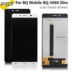 Wysokiej jakości testowane dobrze dla BQ BQS-5060 BQS 5060 cienki ekran LCD + montaż digitizera ekranu dotykowego + darmowe narzędzie dla BQ S 5060 LCD