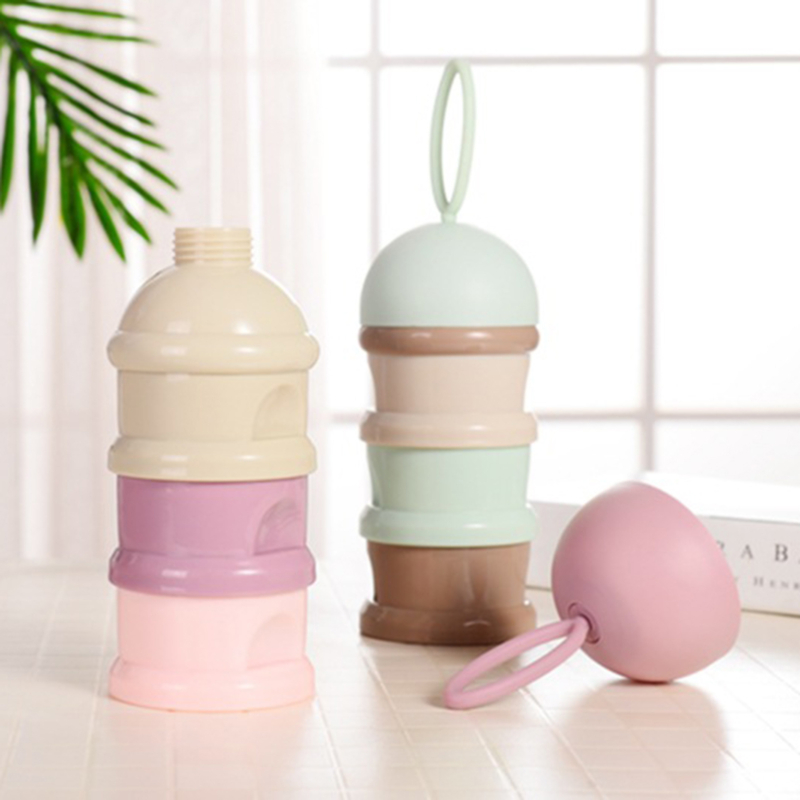 Portable Baby Food Storage Box 3 Layer Frog Style Essential Cereal Cartoon Milk Powder Boxes Toddle Kids Formula Milk Container