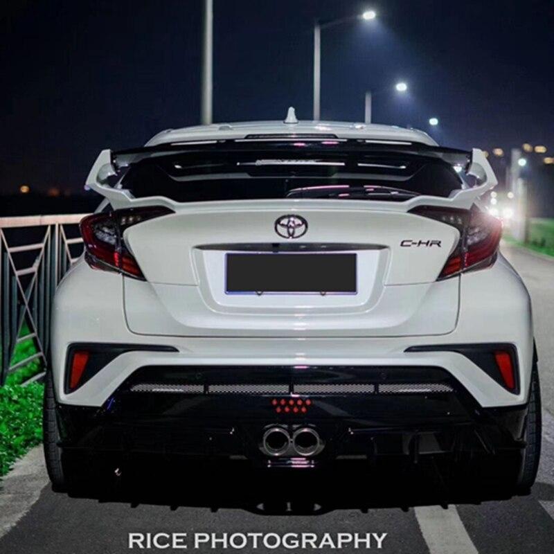 3M Adesivo e Facile Installazione Nero Lucido GOINUS Spoiler Posteriore per Auto in ABS per Toyota CHR C-HR 2016 2017 2018 2019