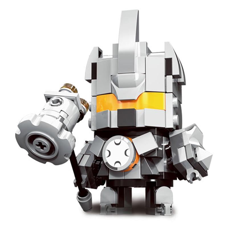 Decool Mini Overwatching Figures Super Heroes model Brickheadz Building Blocks Bricks Toys for children gifts Juguetes 5