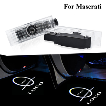 LED Car Door Welcome Light Auto Logo Projector Laser Ghost Shadow Lamp For Maserati Quattroporte GranTurismo GranCabrio Levante image