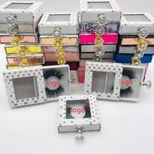 Новая квадратная коробка для упаковки накладных ресниц макияжа