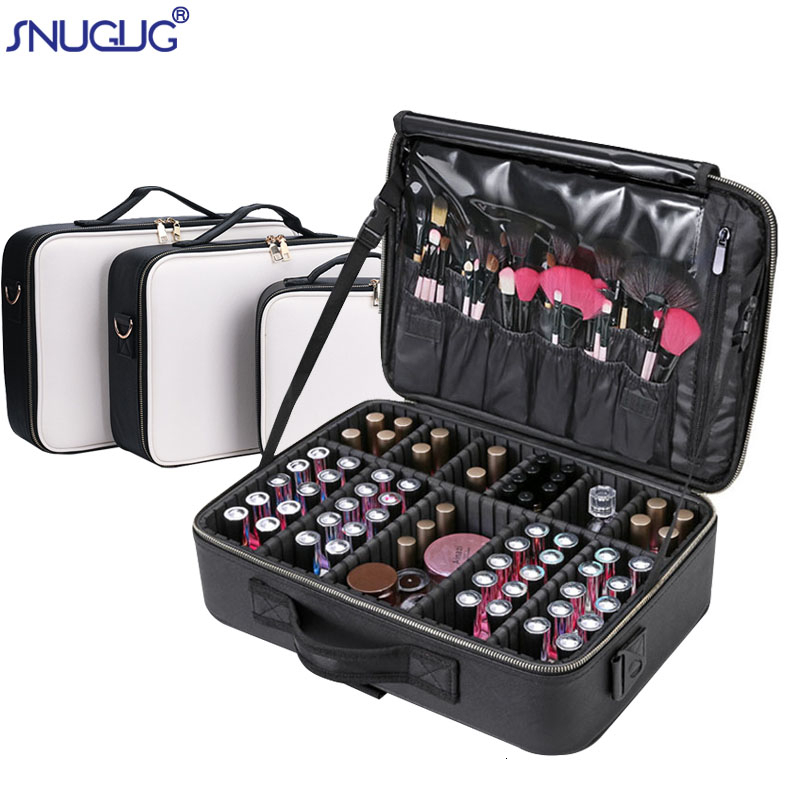 Makeup-Case Storage-Bag Cosmetics Travel Professional PU for Bolso Mujer Female High-Quality title=