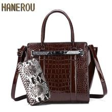 Luxury Crocodile Pattern Handbag Women Designer Classic Patent Leather Ladies Tote Bag Serpentine Lock Shoulder Bags Clutch Bag elegant women s clutch bag with patent leather and crocodile print design