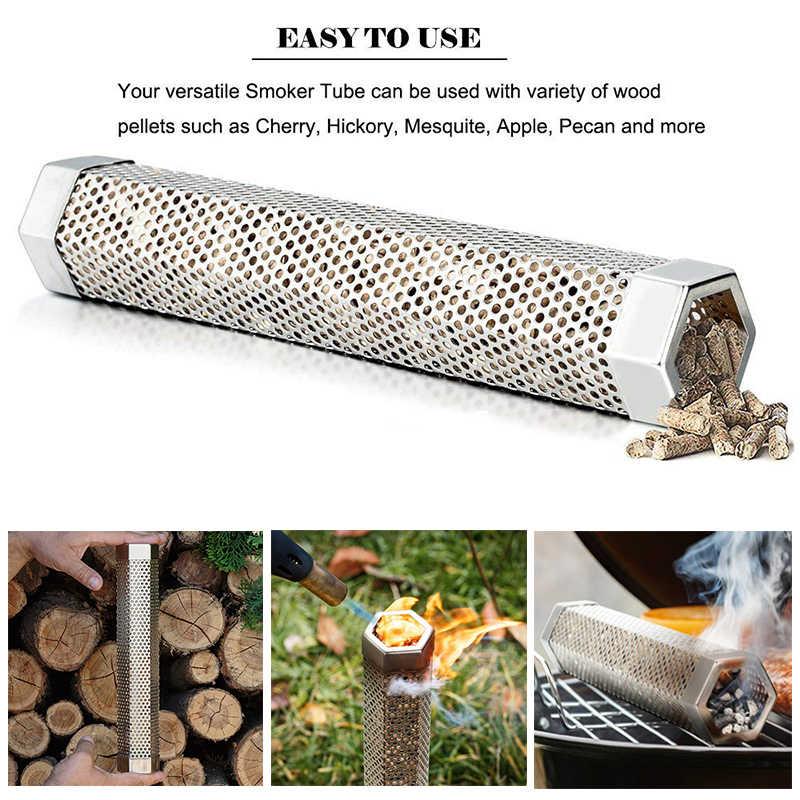 グラム.a HOMEFAVOR ブランド木材チップ喫煙ボックスグリルステンレス鋼穴コールド煙発生器カスタムボックスバーベキュー