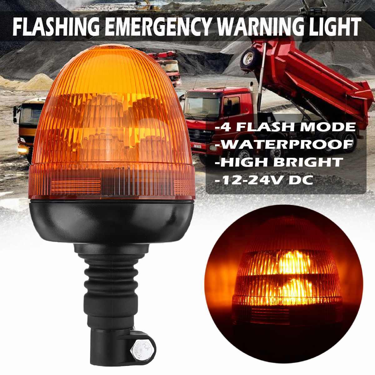 Magnet-Type Emergency Warning Lights Safety Flashing Light for School Buses