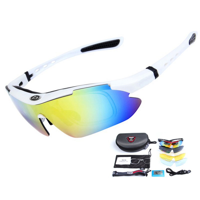 5 Lens UV400 Riding Racing Cycling Sunglasses Outdoor Polarized Road Mountain Bike Glasses Men Women Sports Mtb Bicycle Eyewear