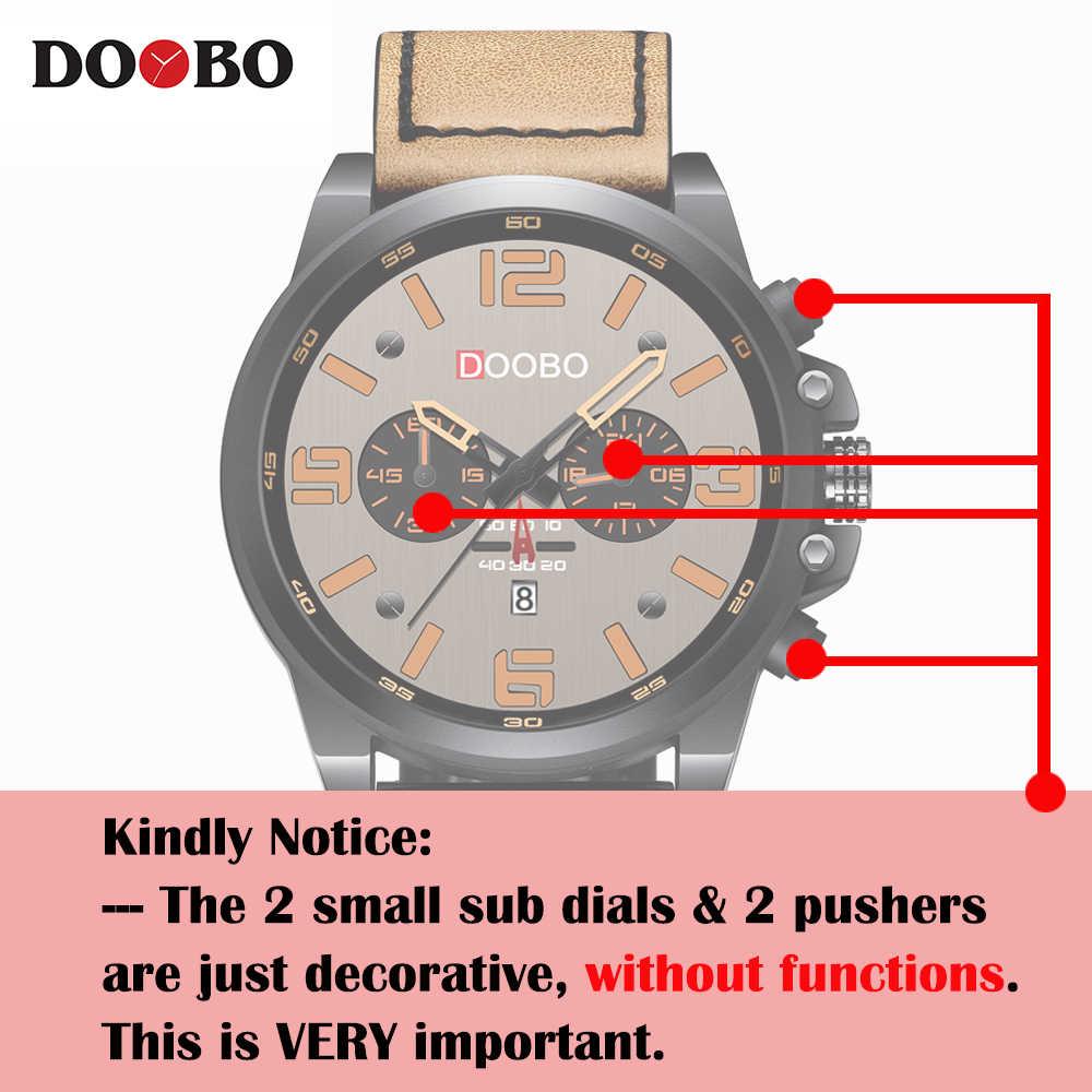 Новинка 8314, DOOBO, мужские часы, Топ бренд, роскошные мужские военные деловые наручные часы, кожа, кварцевые часы, erkek saat Relogio Masculino