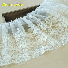 NEW Mesh Exquisite Water Soluble Embroidery Lace Fabric DIY Wedding Dress Cuff Skirt Fast Sewing Curtain Sofa Home Textile Trim