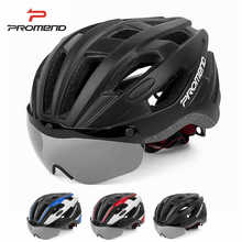 PROMEND MTB bicycle helmet integrated goggles helmet with ma