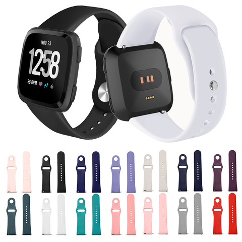 Suitable for F Versa / Versa lite smart watch Solid color reverse buckle silicone TPU strap Pakistan