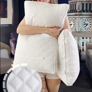 Image 3 - ソフト羽生地枕睡眠枕枕睡眠のためのkussens almohada頚椎oreiller注ぐ点灯poduszkap