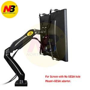"""Image 1 - NB brazo de soporte de Monitor LED F80 + FP 1 para Monitor sin agujero VESA, 17 27 """", resorte de Gas, montaje de puntal de Gas de movimiento completo, carga de 2 6,5 kg"""