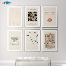 Modern Matisse plakat na płótnie streszczenie kobiety Sexy Body Line Wall drukowany obraz malarstwo ceramika obraz do dekoracji dekoracje domowe w stylu nordyckim tanie tanio ALLBLUE CN (pochodzenie) Płótno wydruki Pojedyncze Wodoodporny tusz Bezramowe lustra Nowoczesne AB111717 Malowanie natryskowe