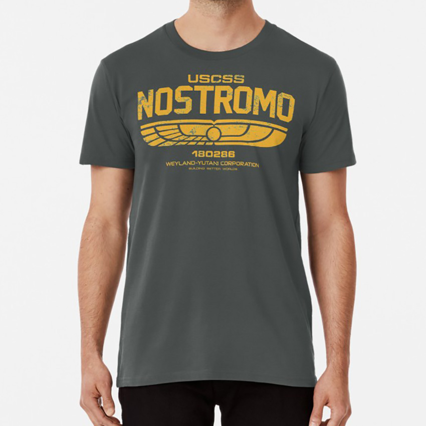 Nostromo Crew T shirt nostromo weyland uscss movie film horror Oversized Asian Size S~5XL image